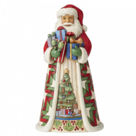 Blessed Is The Giver -Santa with Arms Full of Gifts - H25,5cm Jim Shore 6006637