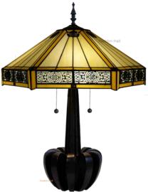 YT2953 Tafellamp Tiffany H72cm Ø53cm Portum