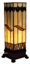 9330 Tafellamp Tiffany H35cm Mini-windlicht Tabacco