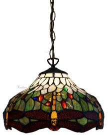 5849 Hanglamp Tiffany Ø30cm Multicolor Dragonfly
