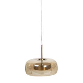 Hanglamp Glas Bruin Ø33cm