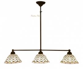 505 Hanglamp B90cm met 3 Tiffany kapjes Ø25cm Jewel