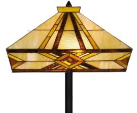 5520 5564 Vloerlamp H164cm met Tiffany kap 41x41cm Emile