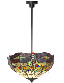 5850 Hanglamp Tiffany Ø40cm Dragonfly Multicolor
