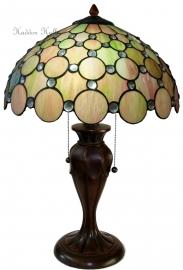 "5800 5500 Tafellamp Tiffany H58cm Ø40cm ""Pearl"""