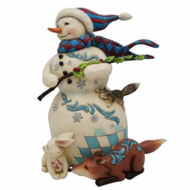As The Winds Blow - Snowman with Broom - H21cm Jim Shore 6006603