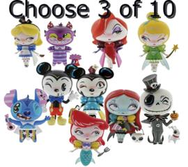 Kies 3 van 10 - Set van 3 Miss Mindy Vinyl H18cm figurines