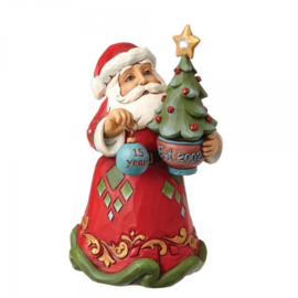 15th Anniversary Santa hanging ornament