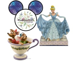 Cinderella Transformation & Jaq Gus Set van 2 Jim Shore beelden
