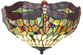 5850 Plafonniere Tiffany Ø40cm Dragonfly Multicolor