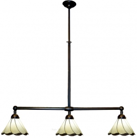 5704 Hanglamp B90cm met 3 Tiffany kappen Ø25cm Desertwave