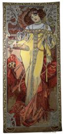 "Alphonse Mucha ""Herfst"" Wandkleed 110x46cm  Gobelin Geweven"