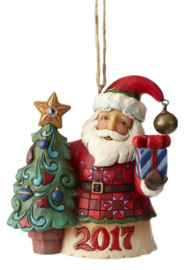 Crystal Santa Dated 2017 H11cm Hangin Ornament