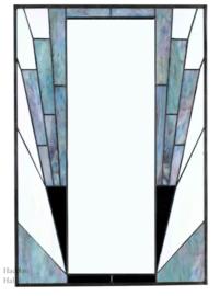 8150B Spiegel Tiffany H75cm B50cm French Art Deco Blue