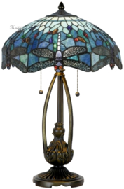 T9M Tafellamp Tiffany H60cm Ø41cm Blue Dragonfly