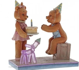 Make A Wish! - Button & Pinky Happy Birthday H12cm Jim Shore 6005124