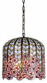 5375 Hanglamp Tiffany Ø40cm Wisteria  Pink