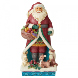 A Festive Forage H31,5cm Winter Wonderland Santa with Wreath 6004189