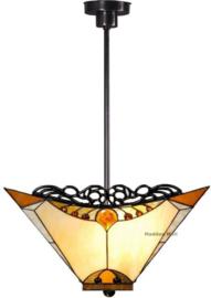 5595 Hanglamp met Tiffany 44x44cm Amber