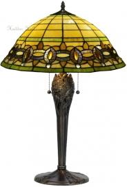 "5804 5373 Tafellamp Tiffany H66cm Ø51cm ""Olive"""