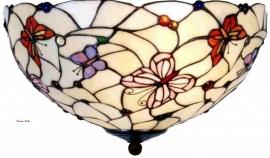 5365 80 Plafonniere Tiffany Ø40cm Pink Butterfly