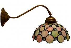 "5797 410 Wandlamp met Tiffany kap Ø25cm ""Pearl"""