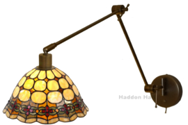 8828 Wandlamp Verstelbaar Dimbaar met Tiffany kap Ø26cm Victoria