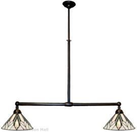 T026S Hanglamp B90cm met 2 Tiffany kappen Ø30cm Astoria