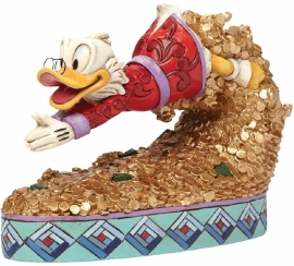 "UNCLE SCROOGE - DAGOBERT ""Treasure Dive"" H12,5cm Jim Shore 4046055"