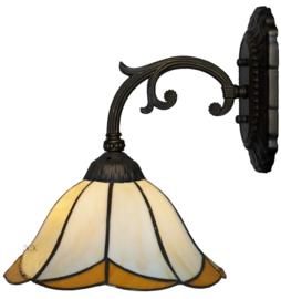 167 Wandlamp Grijs met Tiffany kap Ø30cm Charme