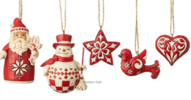 Nordic Noel - Set van 5 Hanging Ornaments Jim Shore