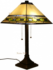 5702 Tafellamp Tiffany H60cm 36x36cm Memphis