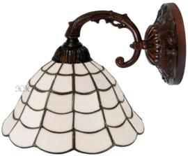 5935 8829 Wandlamp Bruin met Tiffany kap Ø25cm Art Deco Paris