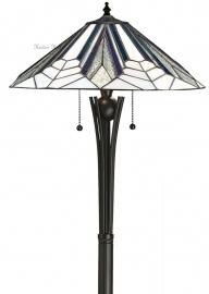 T026FL-TG08FB Vloerlamp H156cm met Tiffany kap Ø48cm Astoria