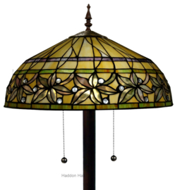 T046L 9454 Vloerlamp H165cm met Tiffany kap Ø50cm Ashtead