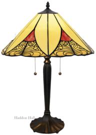 KT32 Tafellamp Tiffany H60cm Ø40cm Sunset