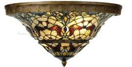 5277 Plafonniere Tiffany met ring Ø50cm Carlisle