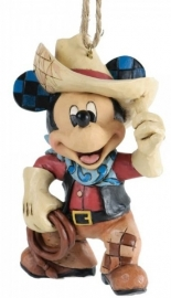 "MICKEY ""Roundup Mickey"" H9cm Hanging ornament Jim Shore A25905"