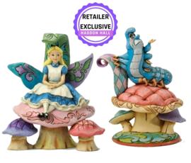 Alice & Caterpillar - Set van 2 Jim Shore beelden  , reintroduction for may 2022