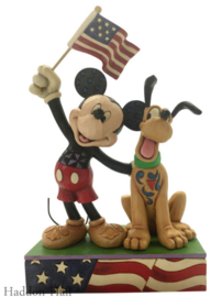 Mickey & Pluto Patriotes H15cm Jim Shore