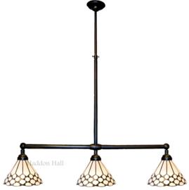 5893 Hanglamp B90cm met 3 Tiffany kappen Ø25cm Wilson