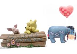 Winnie & Piglet - Eeyore Set van 2 beelden Jim Shore