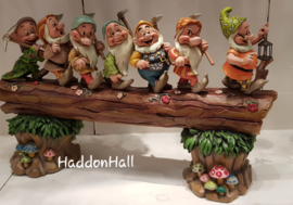"SEVEN DWARFS ""Homeward Bound"" Masterpiece B 50 cm! Jim Shore 6005147."