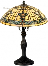 5351 9034 Tafellamp Tiffany H37cm Ø30cm Blue-Oyster