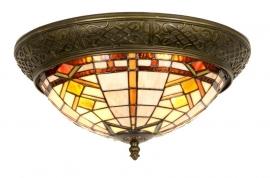 5349 Plafondlamp  Tiffany Ø 38 cm met ring  Durban Art Deco