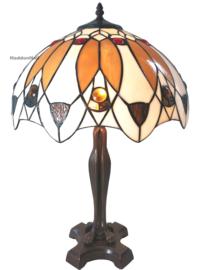 6069 Tafellamp Tiffany H57cm Ø41cm Deco Lelie