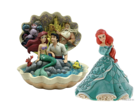 Ariel - Set van 2 beelden - Ariel Shell & Treasure Keeper - Jim Shore