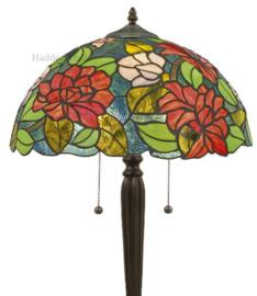 KT164 Vloerlamp Zwart H160cm met Tiffany kap Ø40cm 3xE27 Dalia