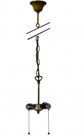 98-2 Ophanging voor hanglamp 2x E27 met Trekkoord