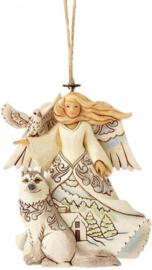 "Set van 2 Hanging Ornament ""Ivory Gold""& ""White Woodland Angel"" Jim Shore"